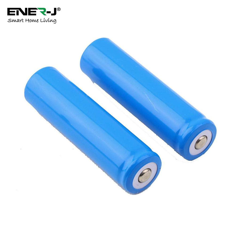 A SET OF 2 BATTERIES (18650 BATTERY WITH 2600 mAh Capacity of each Battery) FOR IP CAMERA & VIDEO DOORBELL