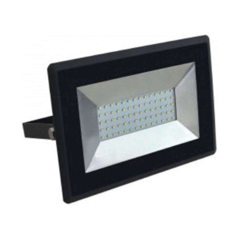 50W, Non PIR Slim Line Black Body LED Floodlight, 90Lm/W, 4000K