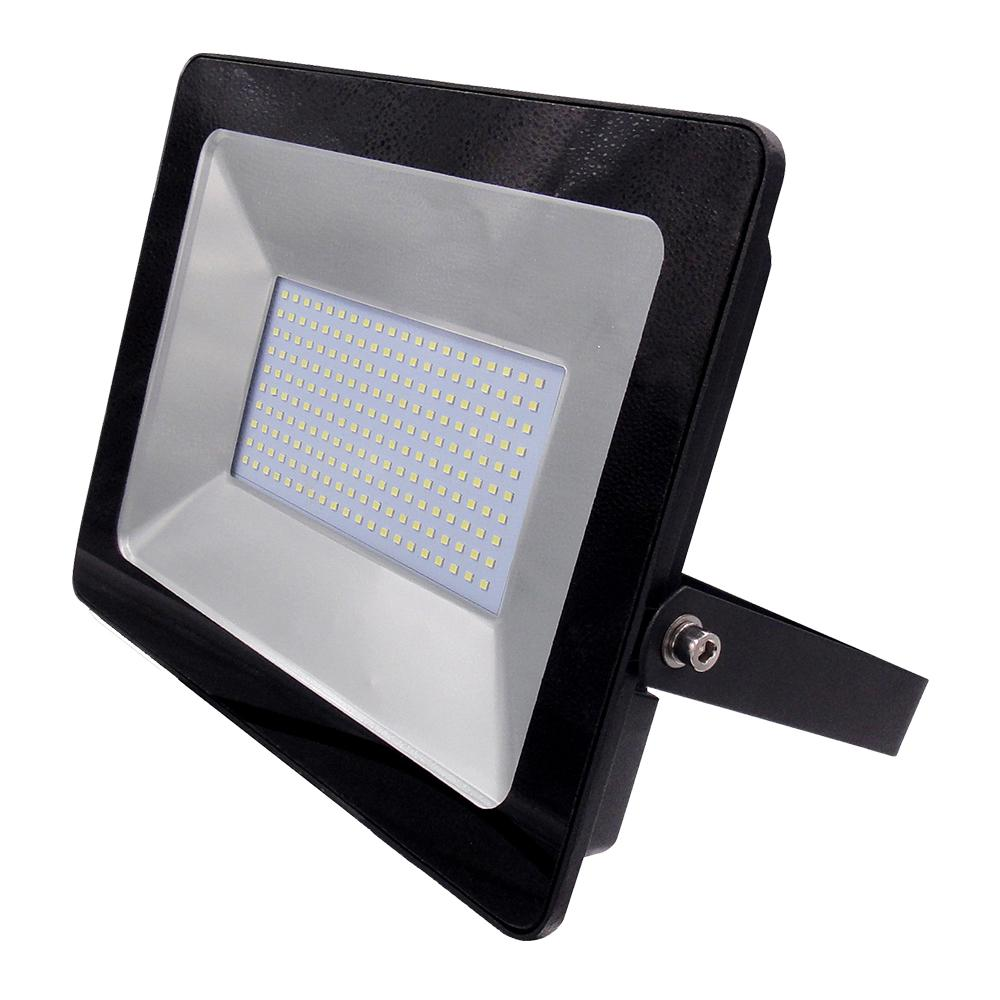 100W, Non PIR Slim Line Black Body LED Floodlight, 90Lm/W, 3000K
