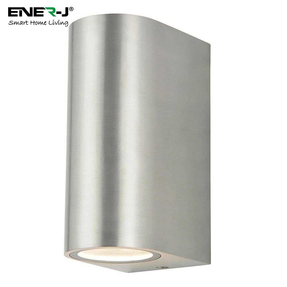 UP DOWN GU10 FITTING WALL LIGHT SILVER HOUSING