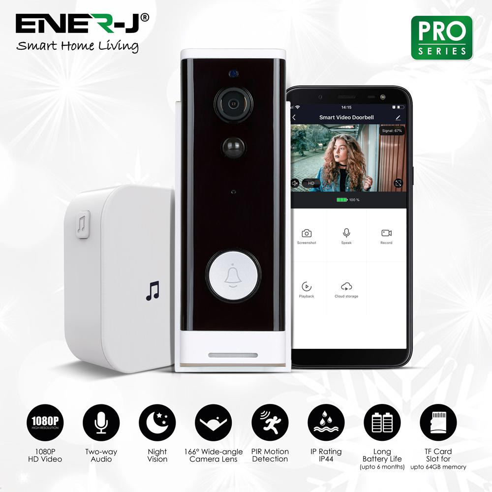 Smart Wireless Video Door Bell 1080P with Chime