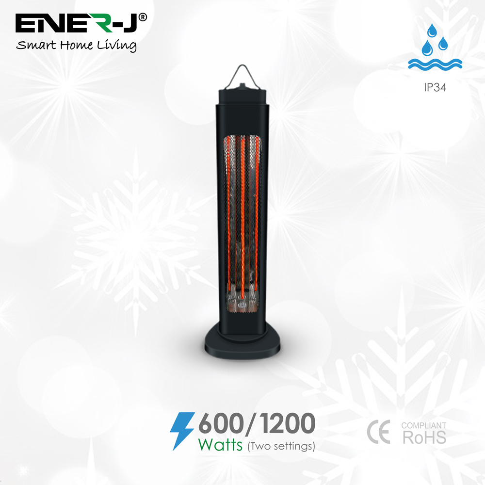 Portable Infrared Heater 600W/1200W with Oscillation