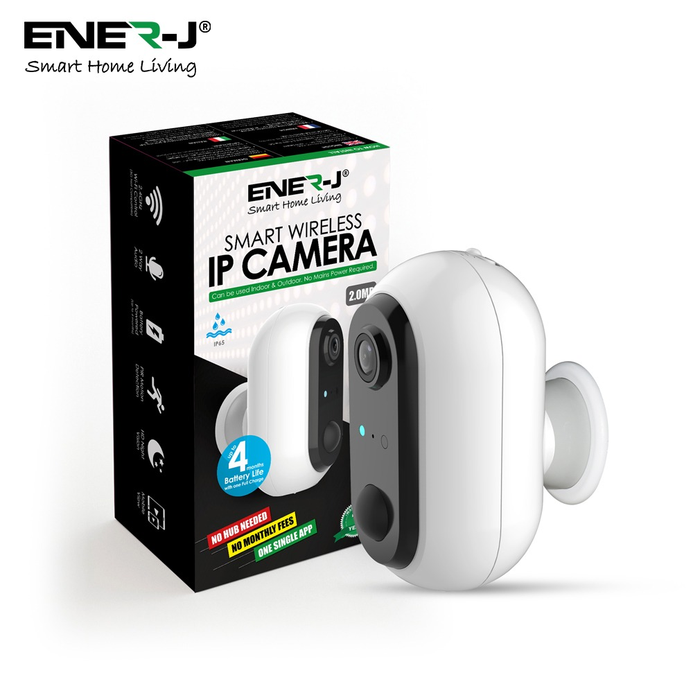 Smart Wireless 1080P Camera with 2 pcs 18650 rechargeable Batteries, IP65