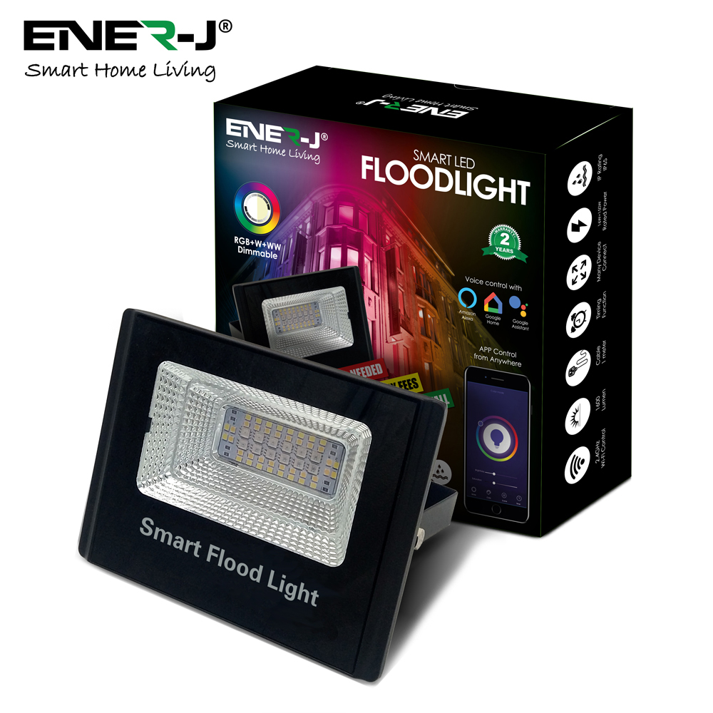 WiFi Smart RGB+W+WW 16W LED Floodlight in ENERJSMART APP
