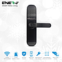Smart WiFi Door Lock (includes 3 RFID card + 3 Mechanical Keys), Black Body Right Handle