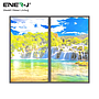 Led Panel 120X60 Surface 64W 2D Waterfal&Landscape Set of 2